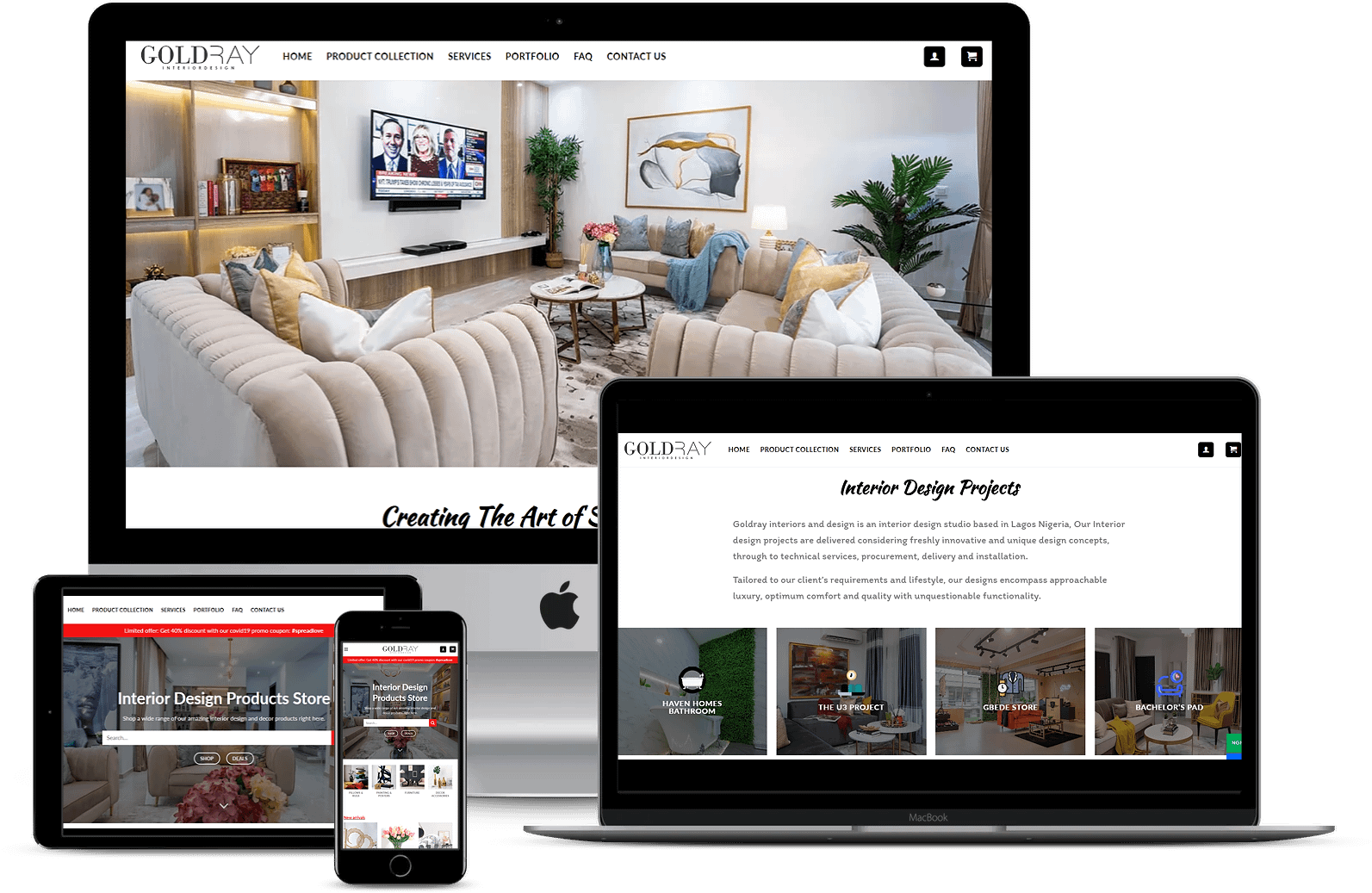 Mobile Website Design Goldray Interiors & Design