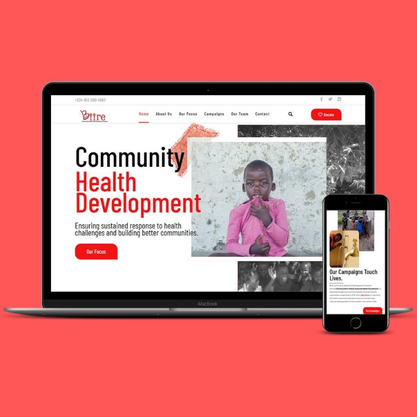 Modern UI/UX Website Design For Biire Community Development