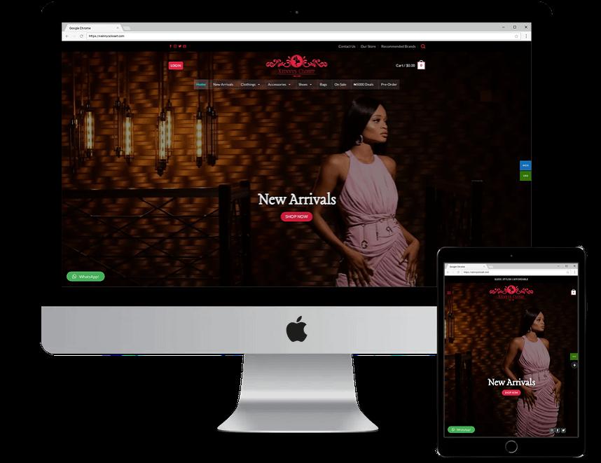 Affordable Website Design Mockup For Xeinnys Closet_Ecommerce Website