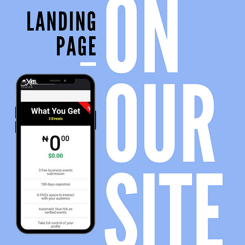 Make more profit with your landing page on our website