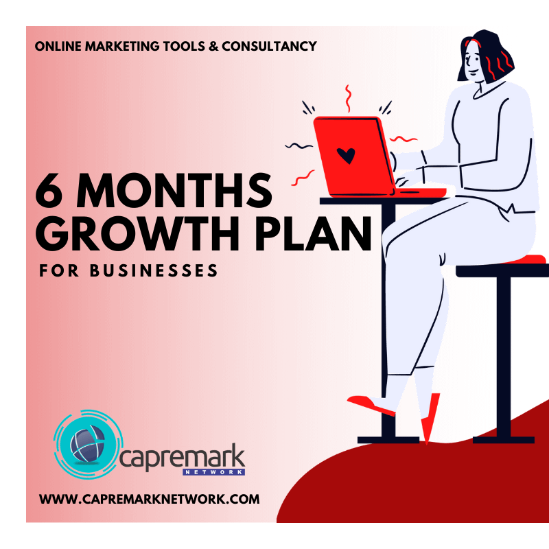 6 Months Online Marketing Campaign Growth Plan