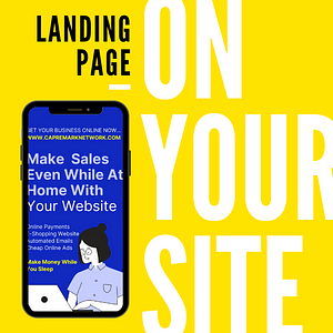 Experience More selling With A Landing Page in Your Website