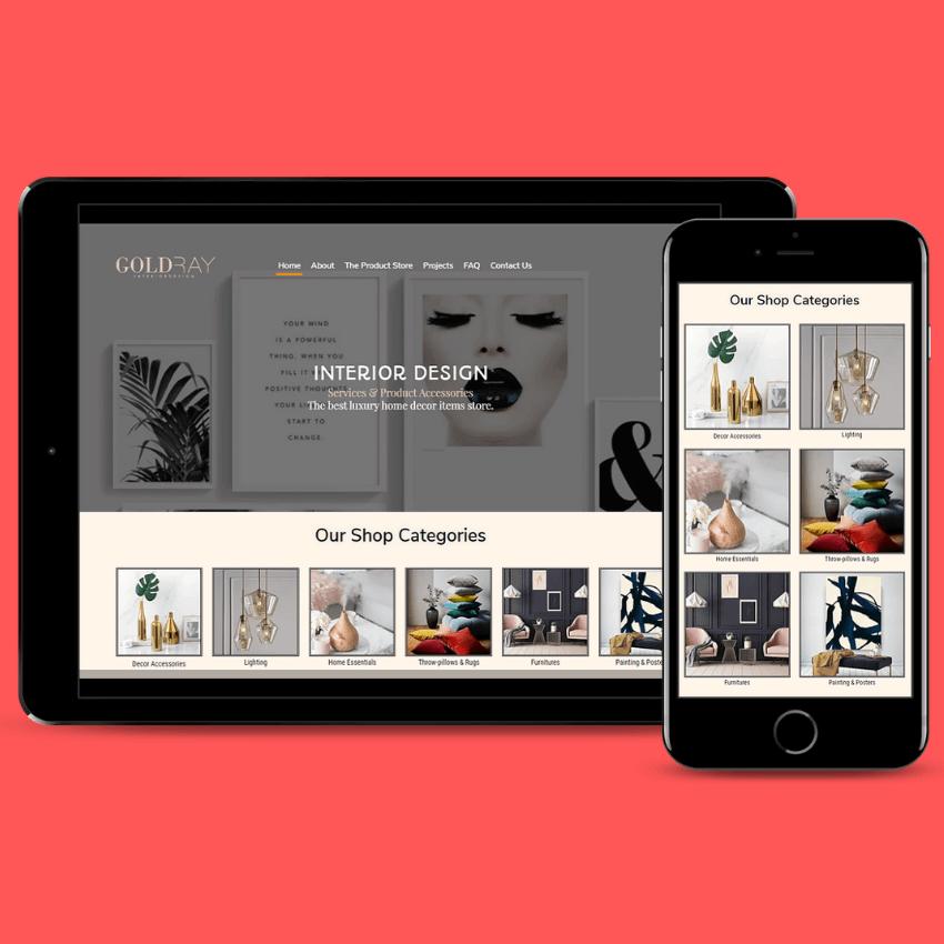 Mobile Website Design Goldray Interiors & Design