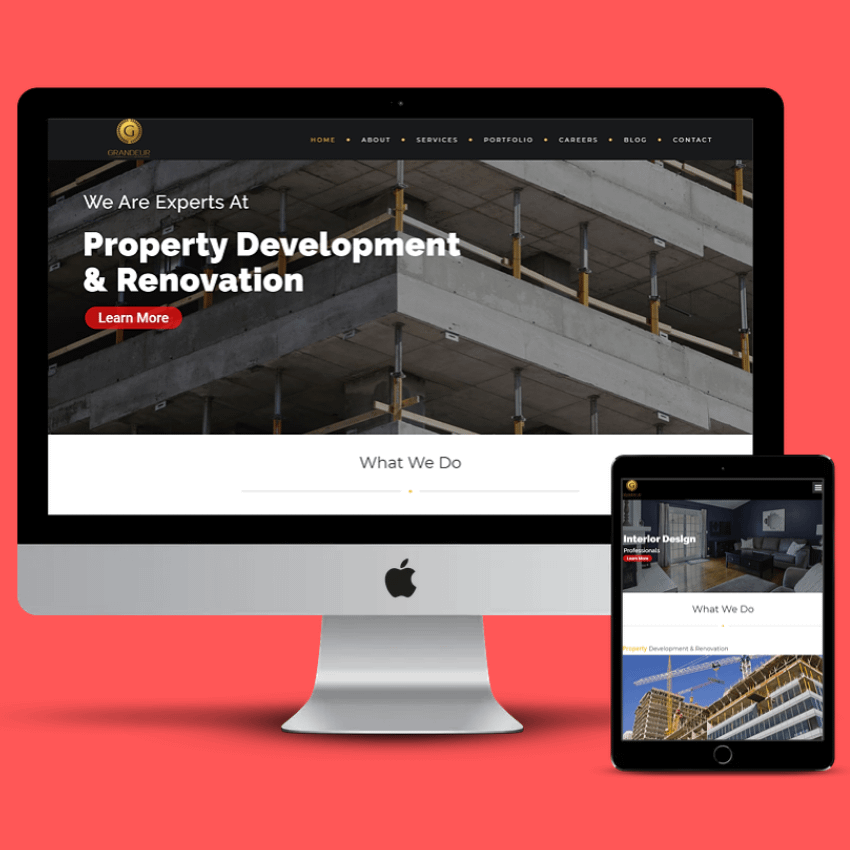 Landing Page Website Design & Main Website Upgrade Grandeur Realestate